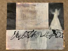 "Holly Caulfield (act. XXI), ""Shadows"", signed lower right, acrylic/mixed media on paper,"