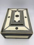 An Anglo Indian Ivory Sewing Box Circa 1880