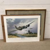 """A Frank Wootton limited edition coloured print, """"Blenheim Mk IV (a Blenheim will fly again)"""", signed"""