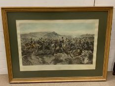 """After Richard Caton Woodville Jr., """"The Charge of the Light Brigade"""", hand-coloured engraving"""