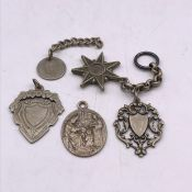 A small selection of medals and medallions