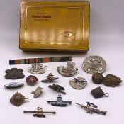 British Army WW1 & WW2 cap badges
