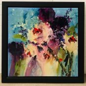Danielle O'Connor Akiyama (b.1957) Canadian, Abstract floral image, signed, dedicated and titled