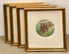 Claire Eva Burton AR (b. 1955) British, a group of four limited edition circular lithographs,