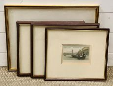 """A group of prints depicting fishing scenes on the river, """"Gudgeon fishing"""" and """"Punt fishing"""""""