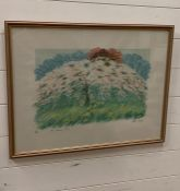 """Jean Wagner (act. XX), """"The cherry tree"""", signed, titled and numbred 22/100, glazed and framed (47."""