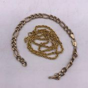 A selection of scrap 9ct yellow gold jewellery (6.1g)