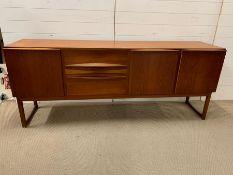 A mid century Mackintosh sideboard (H80cm W203cm D50cm)