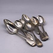 A Selection of Eight Georgian teaspoons with various hallmarks and makers (152g)