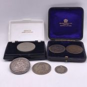 A small selection of Great British coins to include Georgian and Victorian
