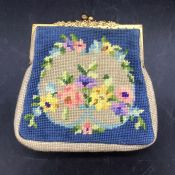 A 1950's tapestry bag made by a teenage Daphne Russell