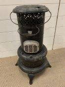 A metal Valor paraffin heater