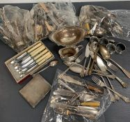 A Large Selection of silver plated items.