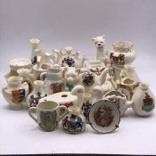 A selection of crest ware