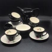 A Bristol six piece tea service