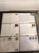 An extensive collection of vintage postcards over eight albums