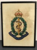 A Royal Army Medical Corps silk