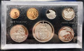 Proof Coin Set Issued by the New Zealand Treasury