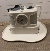 A vintage Goblin teapot with alarm clock, circa 1960's
