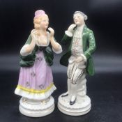 A Pair of Porcelain figures made in Occupied Japan.