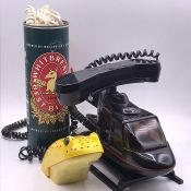 Three Novelty Phones, Whitbread Beer, Frog Phone and a Helicopter Phone