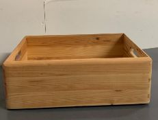 A pine small wooden crate
