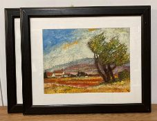 David Gainford (XX-XXI) British, a pair of Impressionist style paintings depicting landscapes,
