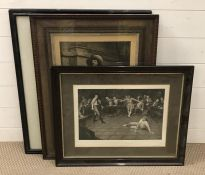 """A group of prints comprising """"General Gordon's Last Stand"""" after George W. Joy, """"A musketeer"""""""