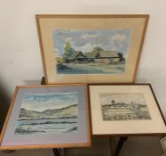 A selection of work by Dennis Ramsbottom mixed media artwork