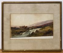 A 20th century Scottish school, depicting a Highland scene, illegibly signed lower left, watercolour