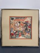 A framed India print of a Royal Scene