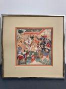 A framed India print of a Royal Scene