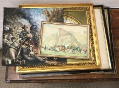 "A 20th century German school, ""View of Oberammergau"", signed ""LPaulus"", titled and dated 1922,"