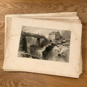 After William Henry Bartlett (1809-1854) British, a large collection of steel prints depicting ""