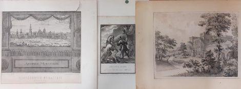 "After Boris Artemyevich Chorikov (1802-1866) Russian, ""The Flight of Prince Igor from the Polovtsian"