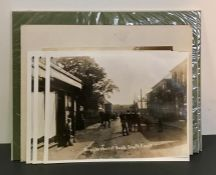 "A group of photographies of old pictures showing ""Brockenhurst road, South Ascot"" and ""Silwood road,"