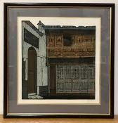 A 20th century Singaporean school, Doors and windows, signed and titled, lithograph on wove paper,