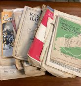 A very large lot of mainly loose sheets of musical scores, covering many gendres and dates.