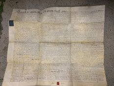 """A """"Declaration of Trust"""", manuscript in parchment, dated 27th October 1774 and signed by Josias"""