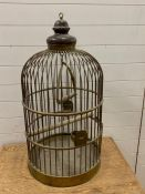 An Original Victorian Brass Bird Cage (90 cm High)