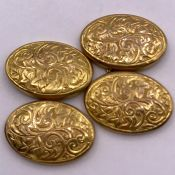 A Pair of 9 ct gold Gents cuff links (Total Weight 2.2g)