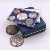 A small selection of American coins.