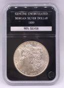 A Genuine Uncirculated Morgan Silver Dollar 1889