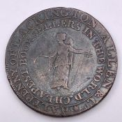 Collectable 1795 Half-Penny Token - J. Lackington - Finsbury Square