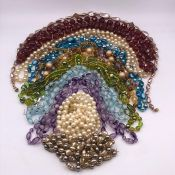 A Selection of costume jewellery necklaces