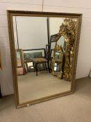 A large gilt frame mirror (102cm x 133cm)