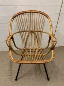 A Franco Allbini wicker chair