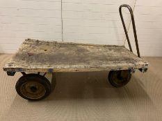 An Industrial three wheel trolley (Length 154 cm x Width 74 cm x Height 55 cm)