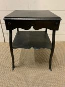 A small metal occasional table (H36cm W28cmsq)