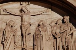 An Esmond Burton (1886-1964) original plaster Maquette of Jesus on the Cross from the clay model.